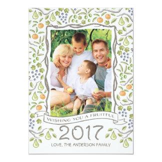 Tarjeta fructuosa del Año Nuevo 2017 del marco