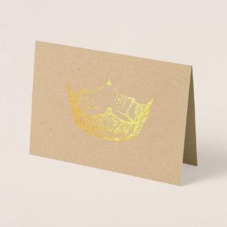 Tarjeta frustrada de la corona del oro del estilo