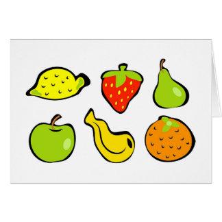 Tarjeta Fruta enrrollada