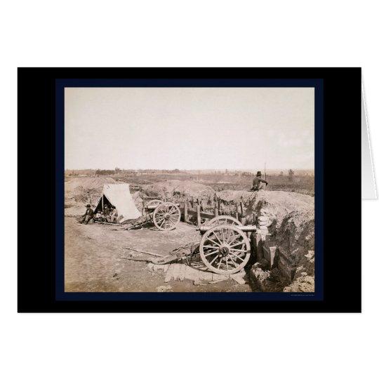 Tarjeta Fuerte confederado cerca de Atlanta, GA 1862