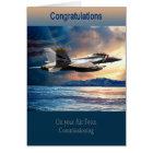 Tarjeta Fuerza aérea Comisión, F 18 de la graduación