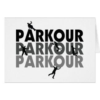 Tarjeta Funcionamiento libre de Parkour