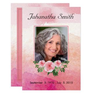 Tarjeta fúnebre conmemorativa invitación 8,9 x 12,7 cm