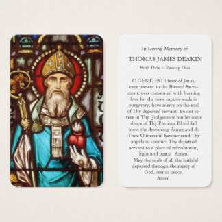 Tarjeta fúnebre el | St Augustine 4 del rezo
