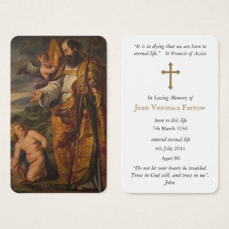 Tarjeta fúnebre el | St Augustine 6 del rezo