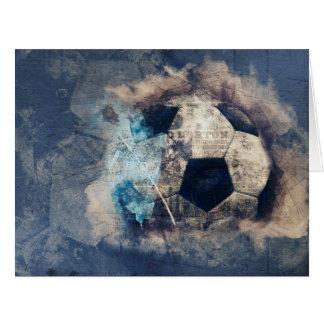 Tarjeta Fútbol azul abstracto del Grunge