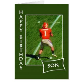 Tarjeta Fútbol - hijo del feliz cumpleaños