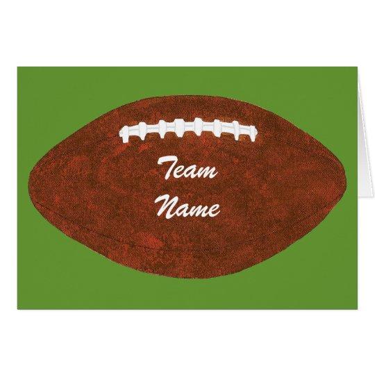 Tarjeta Fútbol personalizado del nombre del equipo,