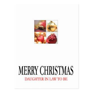 tarjeta futura de las Felices Navidad de la nuera Postal