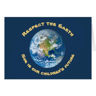 Tarjeta futura del Día de la Tierra del planeta de