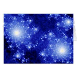 Tarjeta Galaxias azules