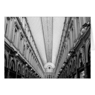 Tarjeta Galerías reales de Huberto del santo, Bruselas,