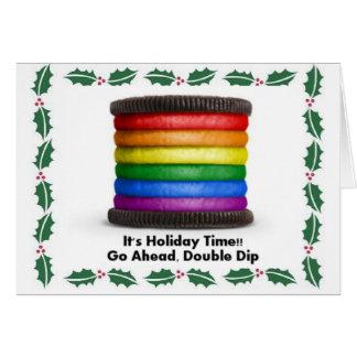 Tarjeta GALLETA del ARCO IRIS del ORGULLO de LGBT para los