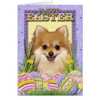 Tarjeta Galletas del huevo de Pascua - Pomeranian