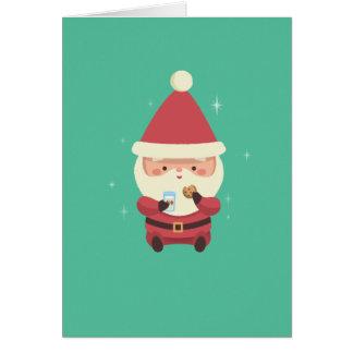 Tarjeta Galletas y leche de Santa