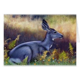 Tarjeta Gama del ciervo mula