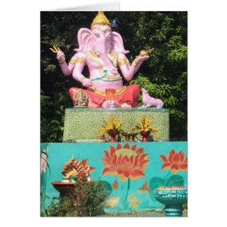 Tarjeta Ganesha en Mae encendido, Tailandia