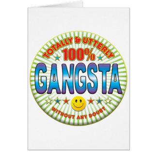 Tarjeta Gangsta totalmente