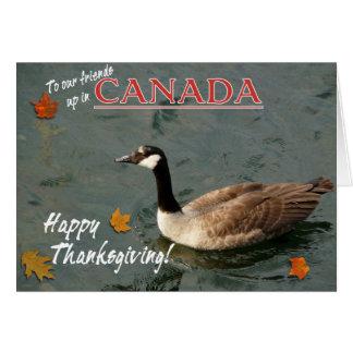Tarjeta Ganso feliz de Acción de gracias-Canadá del