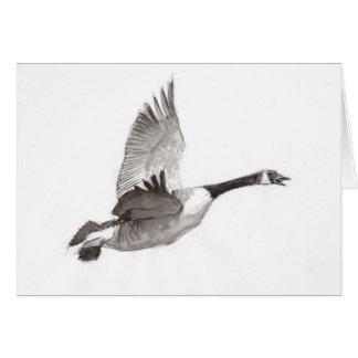 Tarjeta Ganso que dibuja en vuelo