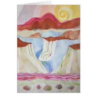 Tarjeta Garganta del Rio Grande, al sur de Taos, nanómetro