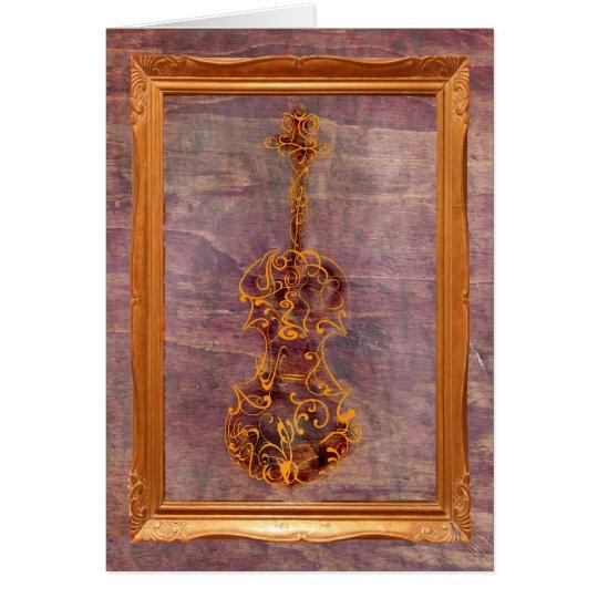 Tarjeta Garrapatos del violín en marco