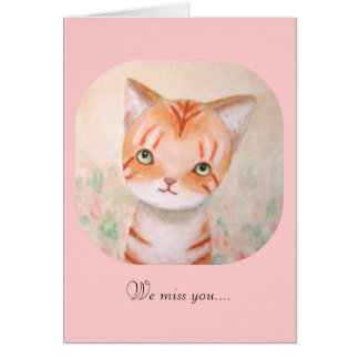 Tarjeta Gatito anaranjado lindo del gato de Tabby nosotros