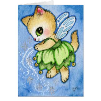 Tarjeta Gatito de Bell del chapucero - gato lindo del
