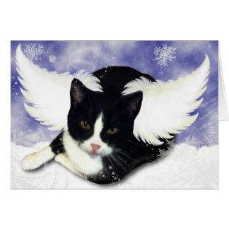 Tarjeta Gatito del ángel de la nieve