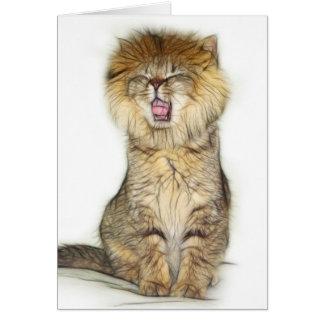 Tarjeta Gatito del león del rugido