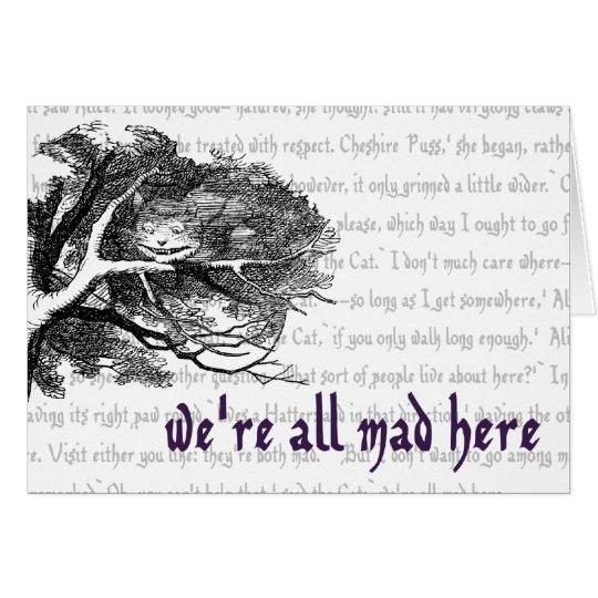 Tarjeta Gato de Cheshire