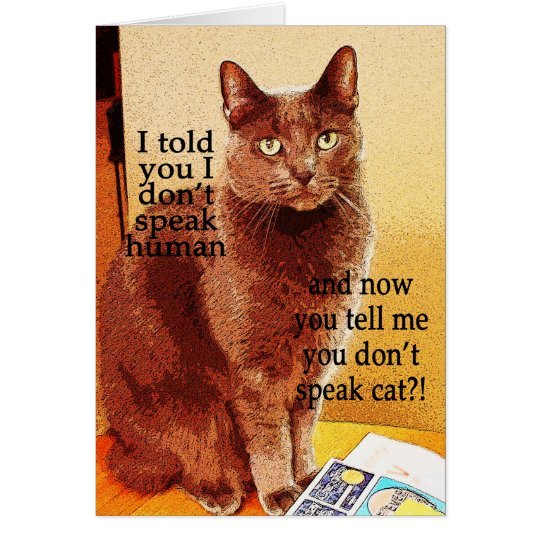 Tarjeta Gato de discurso divertido lindo del gatito