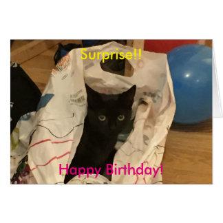 Tarjeta Gato de la sorpresa en imagen del bolso