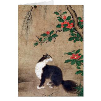 Tarjeta Gato del almizcle de Uto Gyoshi
