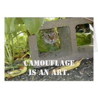Tarjeta Gato del camuflaje