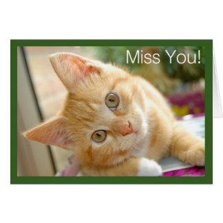 Tarjeta Gato del gatito - Srta. You Card del gatito