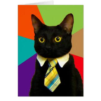 Tarjeta gato del negocio - gato negro