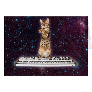 Tarjeta gato del teclado - gatos divertidos - amantes del