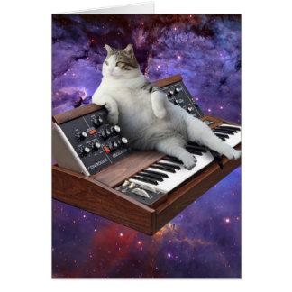 Tarjeta gato del teclado - memes del gato - gato loco