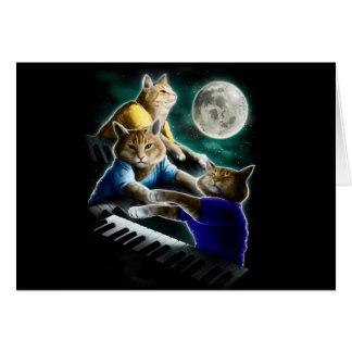 Tarjeta gato del teclado - música del gato - memes del
