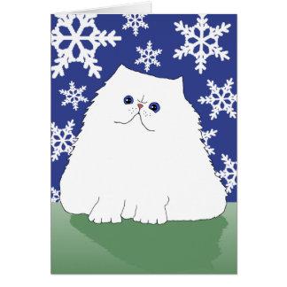 Tarjeta Gato persa del navidad (pequeño)