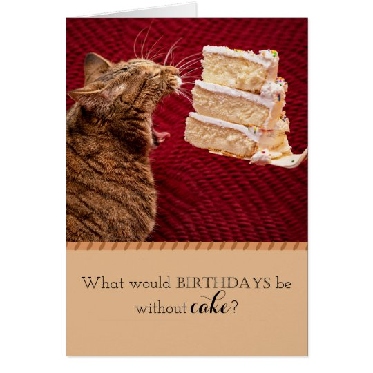 Tarjeta Gato que come la torta