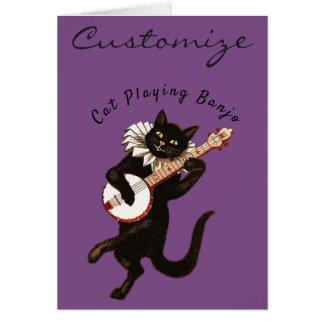 Tarjeta Gato que toca el banjo Thunder_Cove