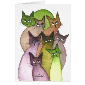 Tarjeta Gatos caprichosos de Líbano
