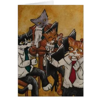 Tarjeta Gatos de orquesta