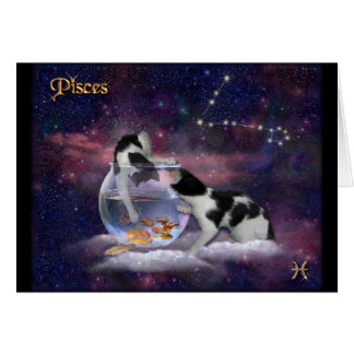 Tarjeta Gatos de Piscis