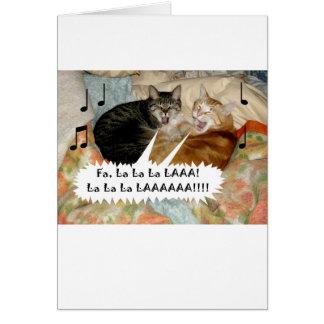 Tarjeta Gatos del canto