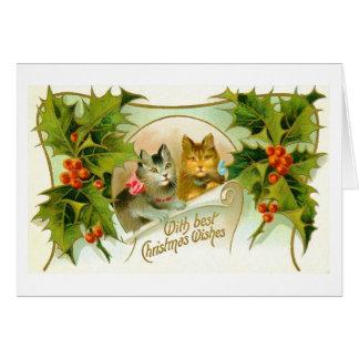 Tarjeta Gatos del navidad