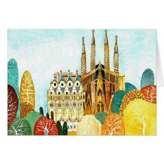 Tarjeta Gaudi 's Barcelona