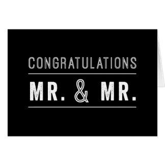 Tarjetas de felicitación de boda gay